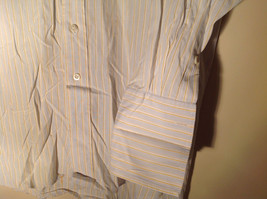 Paul Stuart Light Blue and Yellow Stripes Long Sleeve Button Up Shirt Size 16.5 image 5