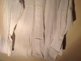 Paul Stuart Light Blue and Yellow Stripes Long Sleeve Button Up Shirt Size 16.5 image 6