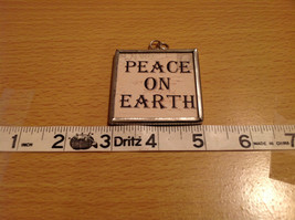 Peace on Earth Saints Charm Gift Tie on Versatile Metal Glass Tag Reversible image 3