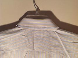 Paul Stuart Light Blue and Yellow Stripes Long Sleeve Button Up Shirt Size 16.5 image 8