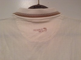 Pebble Beach Size S Natural White Cream Colored Sleeveless Shirt All Cotton image 5