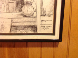 Pencil Drawing by Nella McNally Framed Ready to Hang Signature and Dated image 2
