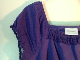 Purple Short Sleeve Shirt by Avenue Size 14 to 16 Elastic Sleeve Ends image 4