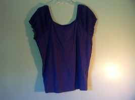 Purple Short Sleeve Shirt by Avenue Size 14 to 16 Elastic Sleeve Ends image 5