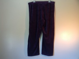 Purple Velvet White Stag Sweat Pants Tie at Waist for Adjustment Size XL image 5