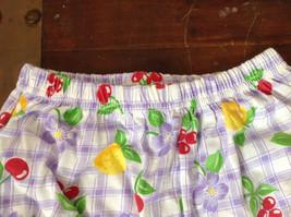 Purple Plaid Fruit Patterned Infant Shorts Cherries Oranges Size 24 Months image 2