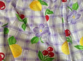 Purple Plaid Fruit Patterned Infant Shorts Cherries Oranges Size 24 Months image 3