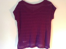 Purple Short Sleeve Size Large Aeropostale Knitted Pullover Top image 4