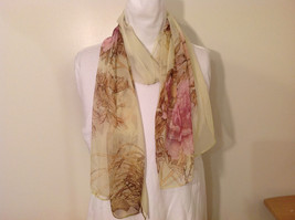 Peony Summer Sheer Fabric Scarf, pastel colors of your choice image 5