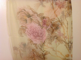 Peony Summer Sheer Fabric Scarf, pastel colors of your choice image 6