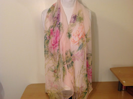 Peony Summer Sheer Fabric Scarf, pastel colors of your choice image 9
