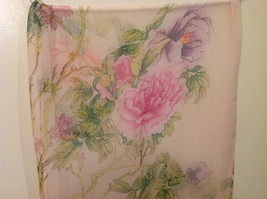 Peony Summer Sheer Fabric Scarf, pastel colors of your choice image 12