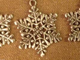 Pewter suncatcher ornament glass beads snowflake hand made USA Cynthia Webb image 2