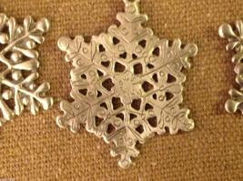 Pewter suncatcher ornament glass beads snowflake hand made USA Cynthia Webb image 5