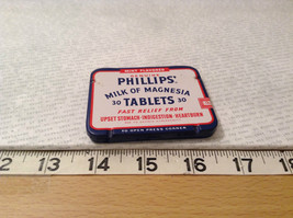 Phillips Milk of Magnesia Tin w Tablets Great Condition Vintage Collectible only image 8