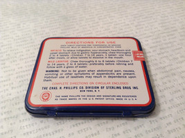Phillips Milk of Magnesia Tin w Tablets Great Condition Vintage Collectible only image 5