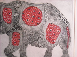 Picture of Elephant With Indian Style Pattern image 4
