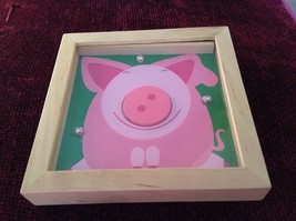 Pig Tip and Tilter Ball Puzzle Collectably Cute Animal Games House of Marbles image 2