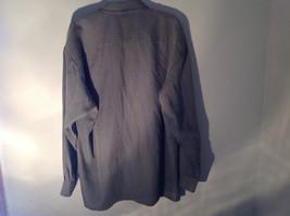 Pierre Cardin Gray Black Green Small Design Pattern Long Sleeve Shirt Size XL image 8