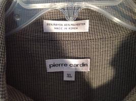 Pierre Cardin Gray Black Green Small Design Pattern Long Sleeve Shirt Size XL image 5