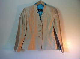 Pilar Rossi Size 10 Light Brown Skirt and Blazer Suit 3 Button Closure on Jacket image 5