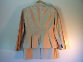 Pilar Rossi Size 10 Light Brown Skirt and Blazer Suit 3 Button Closure on Jacket image 4