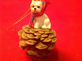 Pine Cone Pet Ornament Westie Pine Cone Pet New in Original Package image 2