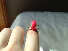 Pink Bead Silver Ring Size 3.25 by Beadit image 6
