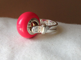 Pink Bead Silver Ring Size 3.25 by Beadit image 8