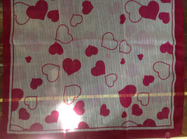 Pink Heart Design Square Fashion Scarf Lightweight Made in China image 4