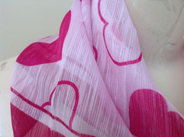 Pink Heart Design Square Fashion Scarf Lightweight Made in China image 3