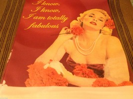 Pink I know I'm totally Fabulous Cotton silk screen kitchen Towel image 2
