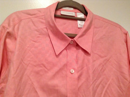 Pink Long Sleeve Button Up Liz Claiborne 100 Percent Cotton Shirt Size 16 image 2