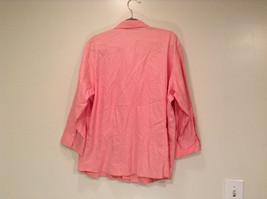 Pink Long Sleeve Button Up Liz Claiborne 100 Percent Cotton Shirt Size 16 image 4