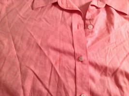Pink Long Sleeve Button Up Liz Claiborne 100 Percent Cotton Shirt Size 16 image 7