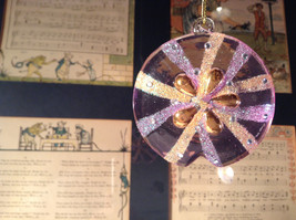 Pink and Orange Glass Sand Dollar Ornament by Holiday Tree Decoration image 4