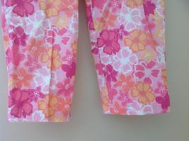 Pink Orange White Flower Capri Pants Side Zip Closure Liz Claiborne Size 10 image 3