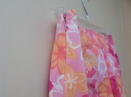Pink Orange White Flower Capri Pants Side Zip Closure Liz Claiborne Size 10 image 6