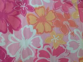 Pink Orange White Flower Capri Pants Side Zip Closure Liz Claiborne Size 10 image 5