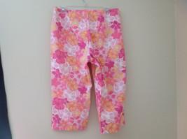 Pink Orange White Flower Capri Pants Side Zip Closure Liz Claiborne Size 10 image 8