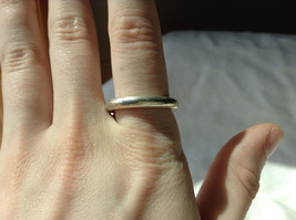 Plain Rounded Silver Ring Size 8 image 3