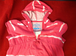 """""""Place"""" Girls Pink Hooded V-Neck Shirt Pink with White Stripes Size Medium 7/8 image 4"""