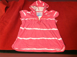 """""""Place"""" Girls Pink Hooded V-Neck Shirt Pink with White Stripes Size Medium 7/8 image 5"""