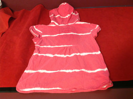 """""""Place"""" Girls Pink Hooded V-Neck Shirt Pink with White Stripes Size Medium 7/8 image 9"""