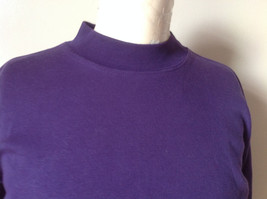 Plain Purple Long Sleeve Cotton Shirt See Measurements Below image 2