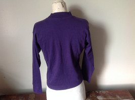 Plain Purple Long Sleeve Cotton Shirt See Measurements Below image 6