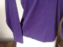 Plain Purple Long Sleeve Cotton Shirt See Measurements Below image 3