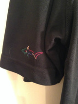 Play Dry by Greg Norman Black Short Sleeve Polo Shirt Size XL Detail Left Sleeve image 6