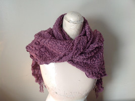 Pink Boho Style Scarf with Dots image 4