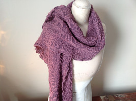 Pink Boho Style Scarf with Dots image 3
